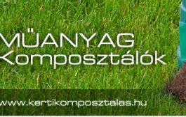 Talajjavító anyagot létrehozó kerti komposztáló